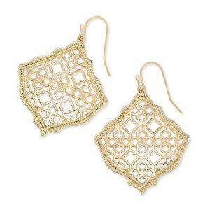 Kendra Scott Kirsten Gold Drop Earrings NWT